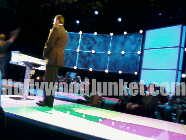 """""""Trivial Pursuit"""" host, Christopher Knight on the set."""