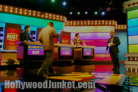 """on-set photo from """"Catch 21"""", hosted by Alfonso Ribeiro."""