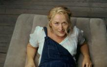 "Meryl Streep's scene in ""Mamma Mia' singing the title song."