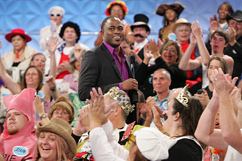 """On the set of """"Let's Make a Deal"""" hosted by Wayne Brady."""