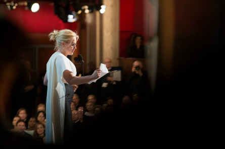 Patricia Arquette winning for Best Supporting Actress.  Photo: Richard Harbaugh / ©A.M.P.A.S.