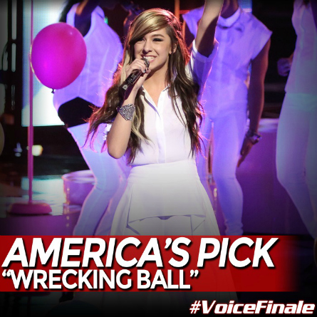 The Voice season 6 Christina Grimmie Wrecking Ball