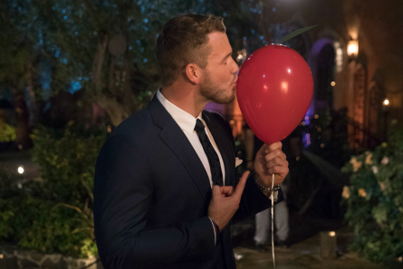 The Bachelor 2019, Colton with red balloon/cherry