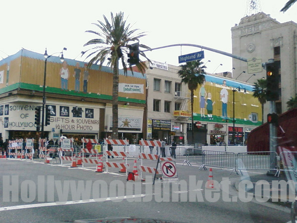 Hollywood Blvd is closed at Highland Ave. for Oscars on Sunday.