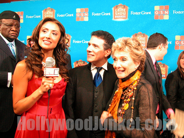 H.J. host, Katie Cleary interviews Cloris Leachman at Game Show Awards
