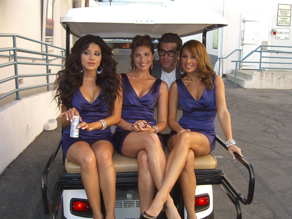 """Photo by: Ron Lynn / DEAL OR NO DEAL models, from left to right: Leyla Milani, Marisa Petroro, and Patrica Kara on the """"Hollywood Center Stage"""" lot where GSN's """"Catch 21"""" is filmed"""