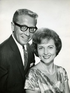 "Allen Ludden and Betty White met on ""Password"", and later wed."