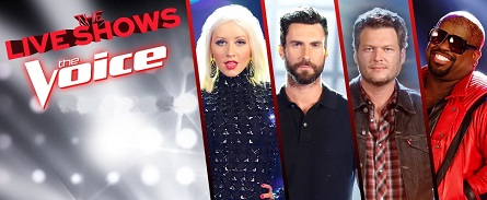 The Voice Live Shows logo