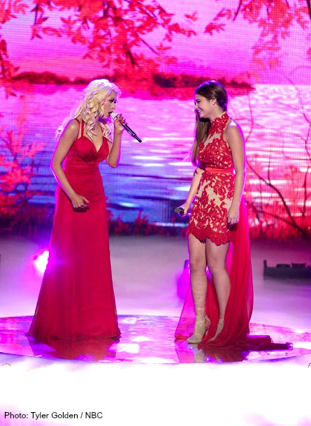 THE VOICE Christina Aguilera, Jacquie Lee