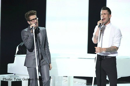 THE VOICE Will Champlin, Adam Levine