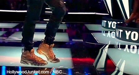 The Voice Usher's Grammy shoes.