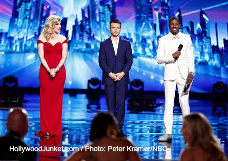 AGT season 9, op 2 Acts - Emily West, Mat Franco, Nick Cannon.