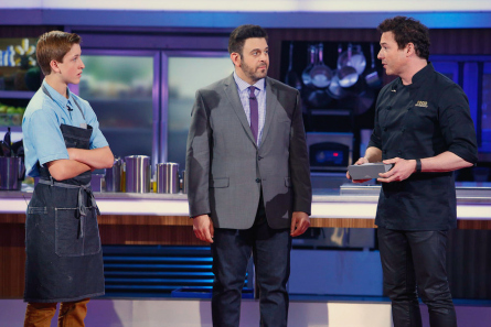 Food Fighters season 2, Pictured: Troy Glass, Adam Richman, Rocco Dispirito