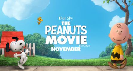 Peanuts movie banner 2015