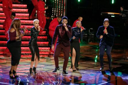 The Voice season 9 finale Regina, Nadjah, Mark, Darius, Celeste