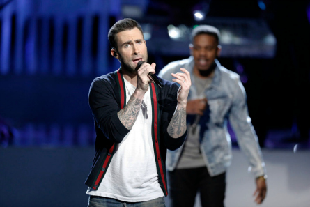 The Voice Live Top 10 Adam Levine performs with R City