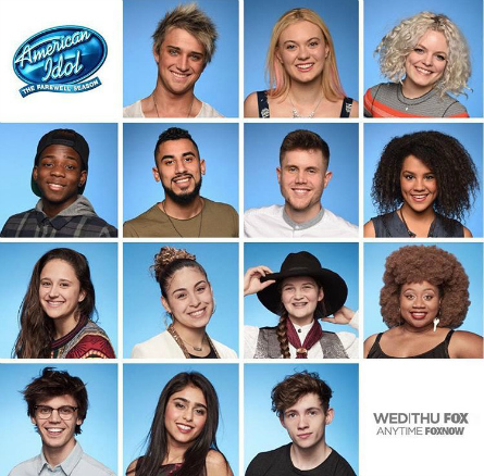 American Idol season 15 Top 14