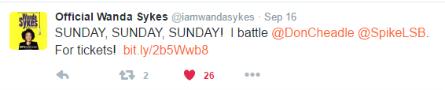 Lip Sync Battle season 3, Wanda Sykes tweet