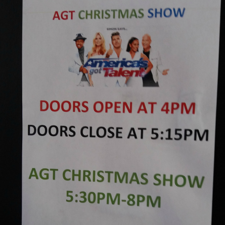 AGT 11 Holiday flyer