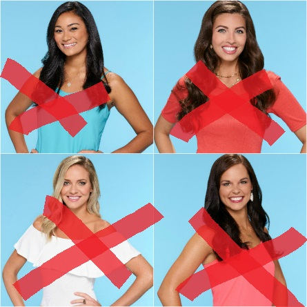 The Bachelor 21 premiere eliminated women 2