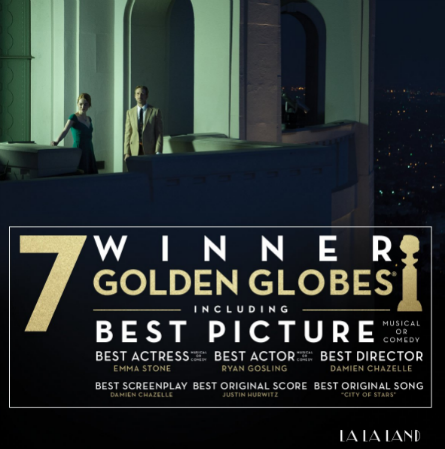 La La Land movie poster Golden Globes won
