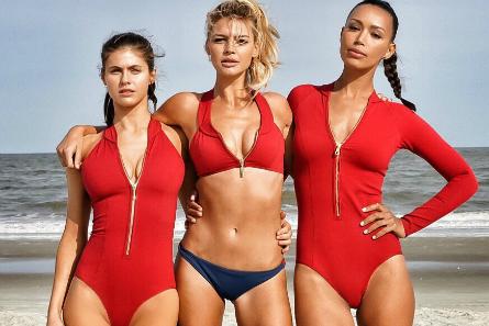 Baywatch movie, Alexandra Daddario, Kelly Rohrbach, Ilfenesh Hadera