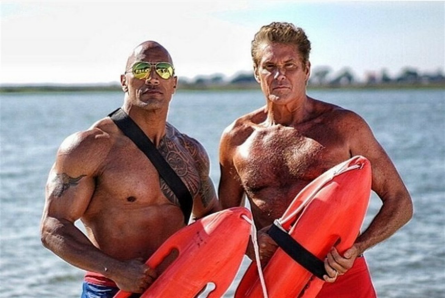 Baywatch movie, Dwayne Johnson, David Hasselhoff