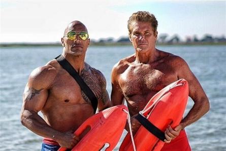 Baywatch movie, Dwayne Johnson, David Hasselhoff
