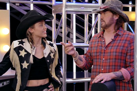 The Voice 13 Blind Auditions, Miley and Billy Ray Cyrus