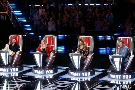 The Voice 15 coaches chairs, Adam, Kelly, Jennifer, Blake