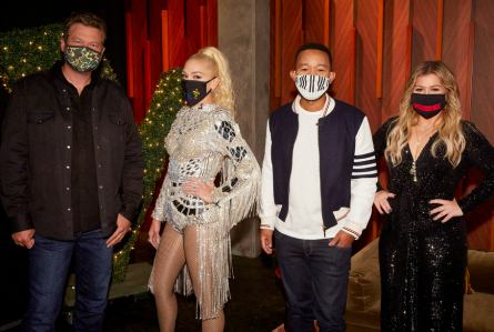 The Voice 19, coaches in masks